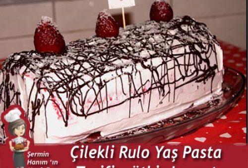 Çilekli Rulo Yaş Pasta