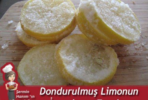 Dondurulmuş Limonun İnanılmaz Faydası