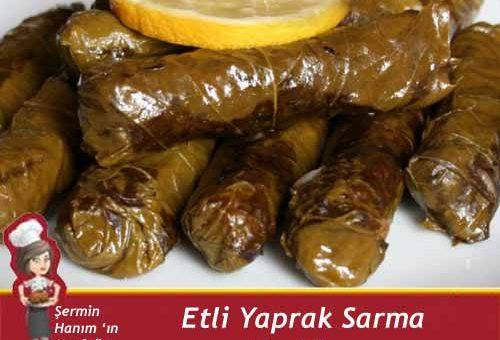 Etli Yaprak Sarma Tarifi