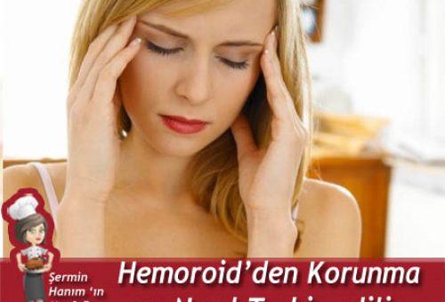 Hemoroidden Korunma