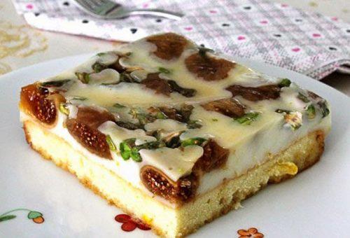 Kuru İncirli Karamelli Pasta
