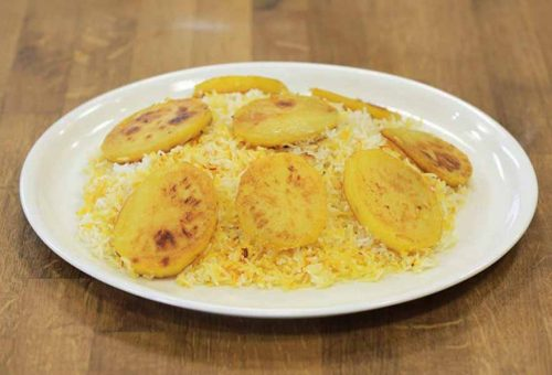 Patatesli İran Pilavı
