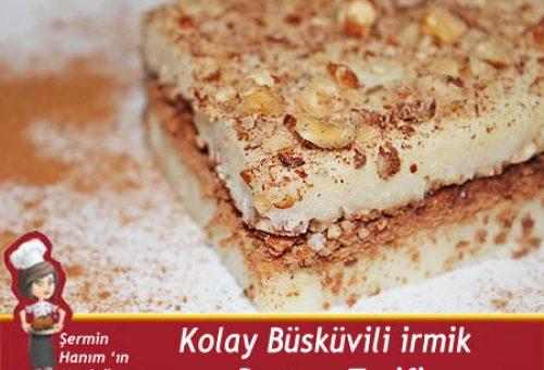 Bisküvili İrmik Pastası Tarifi.