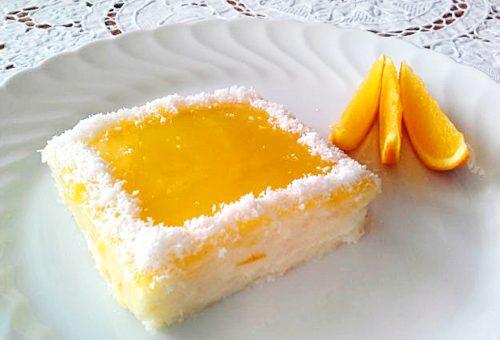 Portakal Pelteli İrmik Tatlısı