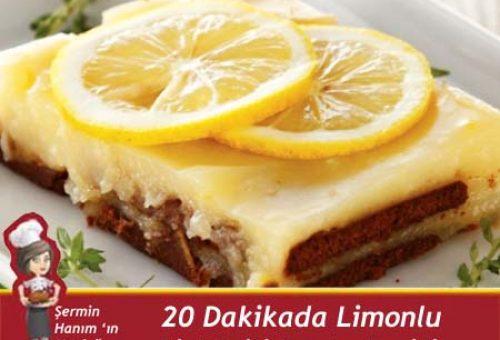 20 Dakikada Limonlu Bisküvili Pasta Tarifi
