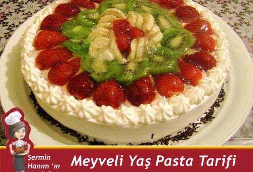 Meyveli Yaş Pasta Tarifi.