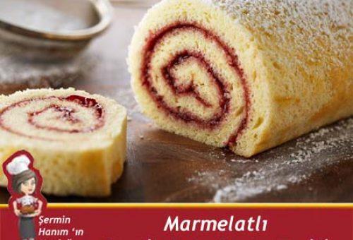 Marmelatlı Pratik Rulo Pasta
