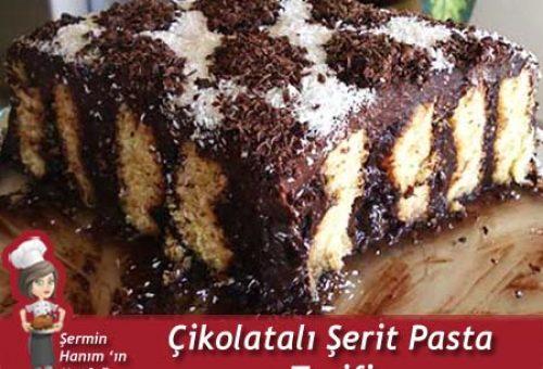 Çikolatalı Şerit Pasta