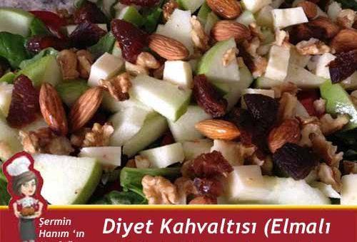 Diyet Kahvaltısı ( Elmalı Salata) Tarifi.